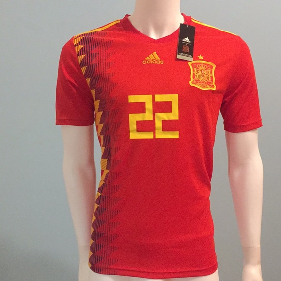 a248f140f ... 2018 spain isco 22 home soccer jersey world cup